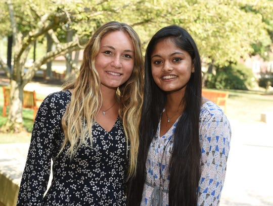 Kayla Bancone and Riya Patel winners of Kaufelt-Humane
