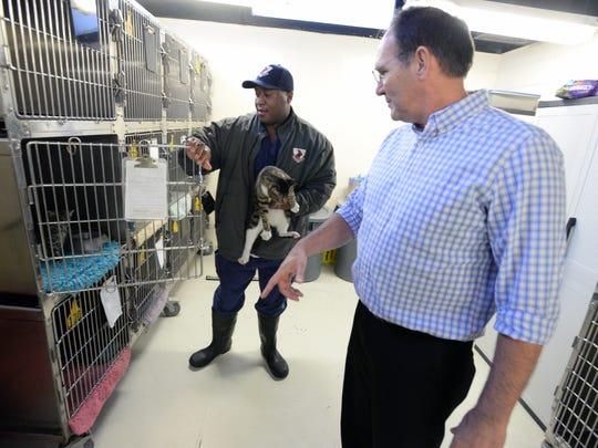 Chuck Wilson, director of the Caddo Parish Animal Shelter