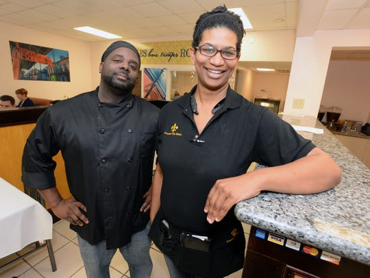 Crescent City Bistro owners Anna and Darryl Johnson.