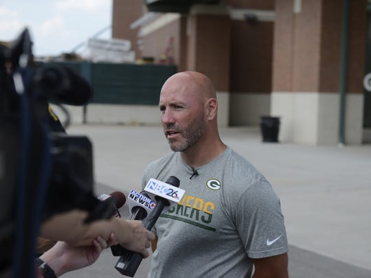 Doug Collins, director of security for the Green Bay Packers, discusses new security procedures Wednesday at Lambeau Field.