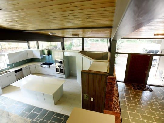 Barry Rachal's son designed the new kitchen at the Atkins Mid-Century home.