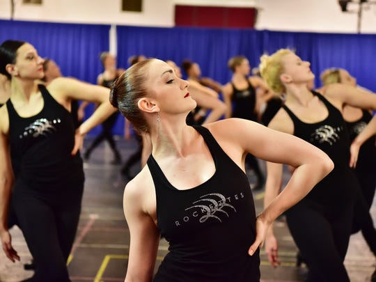 20023728A NYC GEORGIEV 10/13/16 The Rockette's dance during the Christmas Spectacular rehearsal in Manhattan on Thursday. The Rockettes, a precision dance company, have performed at Radio City Music Hall in Manhattan since 1932. Photo: Marko Georgiev/Staff