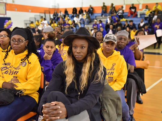 Paterson native Essence Carson, who was a star player for Rutgers and the WNBA's NY Liberty and now with the Los Angeles Sparks, visits the Eastside High School in Paterson where her career started.