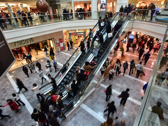 Black Friday shoppers in 2015 at Westfield Garden State Plaza Mall in Paramus.