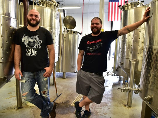 Brix City Brewing owners Joe Delcalzo and Peter Reuther