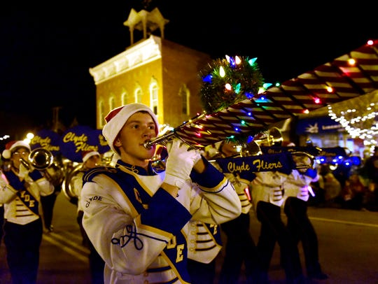 The Northern Lights Parade, set for 6 p.m. Nov. 18, will be a highlight of the Winesburg Christmas events in Clyde.