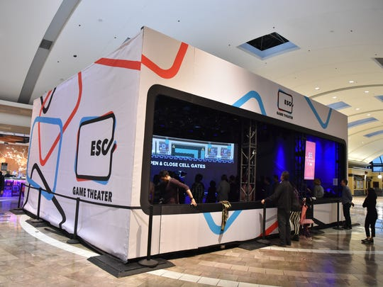 The ESC Game Theater at Garden State Plaza, debuted over the holiday weekend. The ESC Game Theater, first of its kind, is an interactive high-tech experience where up to 30 people can play a game on a big screen using touch devices as controllers.