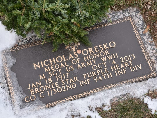 Nicholas Oresko grave site at George Washington Memorial