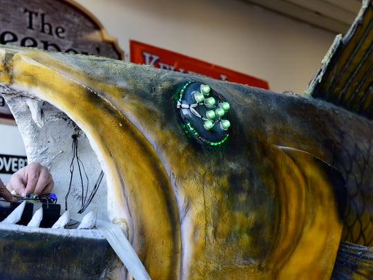 The famous, oversized fiberglass fish Wylie Walleye will drop from a crane in downtown Port Clinton to welcome the New Year.