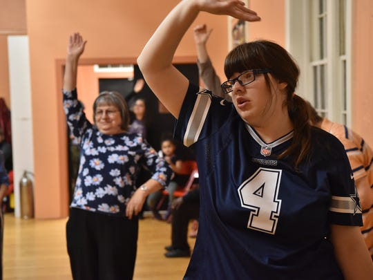 Katherine Martin dances at a class for adults with special needs at the Center for Modern Dance Education in Hackensack.