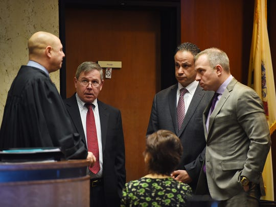 ( L to R),  Superior Court Judge Michael Ravin, Essex
