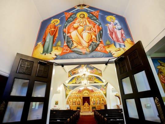 St. George Greek Orthodox Church was painted byTom
