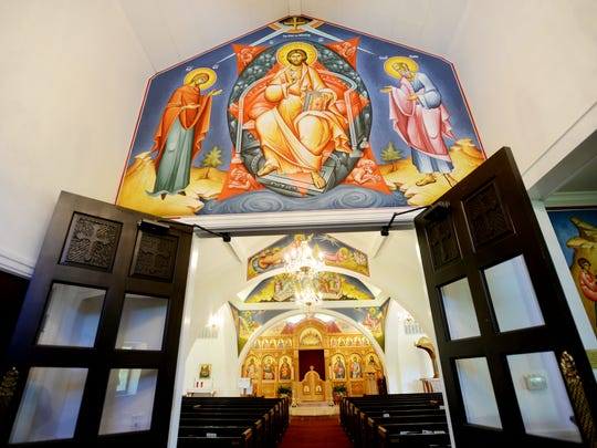 St. George Greek Orthodox Church was painted byTom