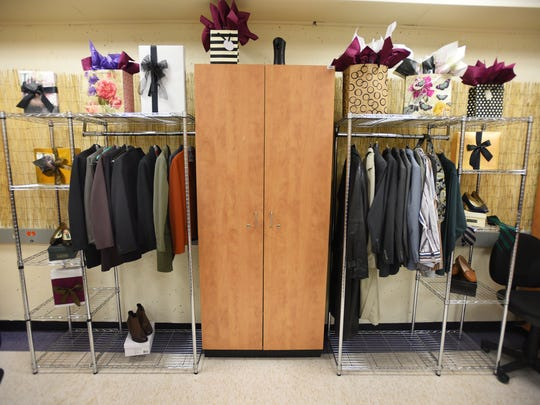 "The boutique ""career closet"" that is part of the ""Move for Success"" event at Bergen Community College in Paramus. The boutique will let students find free professional and formal clothing that is donated by area residents."