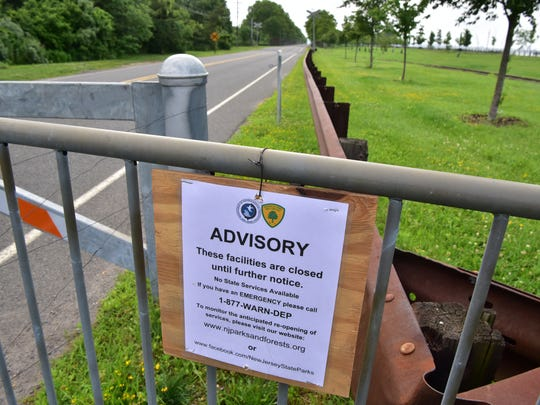 Liberty State Park in Jersey City was closed Saturday Morning due government shutdown. Police officers were returning visitors at the gate.