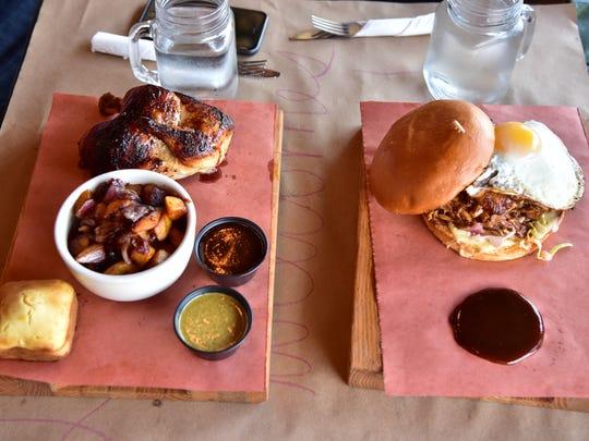 Le Bon Choix rotisserie chicken and sandwich