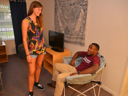 Florida Tech students Lindsay Isaac and Nicardo Cameron