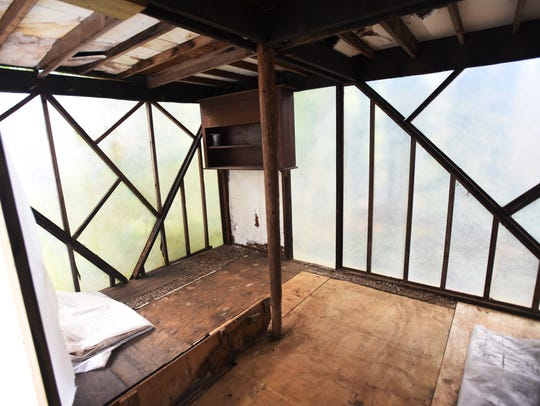 Meditation Room that has been damaged and is in the