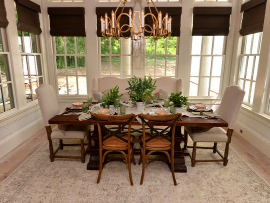 The breakfast nook in Stonegate Homes'  Southern-style