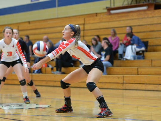 Paige Hintz is a key part of the Pacelli volleyball