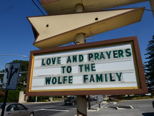 A sign at Greyhound Family Restaurant,  Shippensburg,
