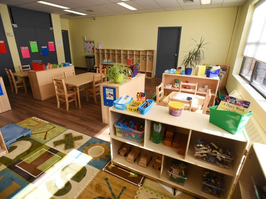 One of the four new preschool classrooms at the Bergen Family Center in Englewood. A grant from the state will allow the Englewood district to accept 31 more children on Wednesday, in conjunction with the center.