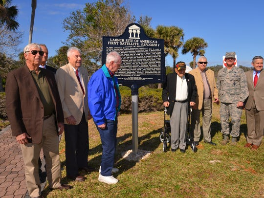 A ceremony was held Wednesday to celebrate the 60th anniversary of the launch of America's first satellite, Explorer 1, from Complex 26 at Cape Canaveral Air Force Station. A historical marker was unveiled for the ceremony.