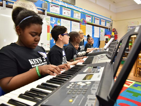 Azariah Folkes - Bowden practices piano with Keys to
