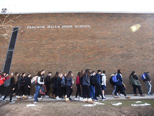 Students of Pascack Hills High School in Montvale,