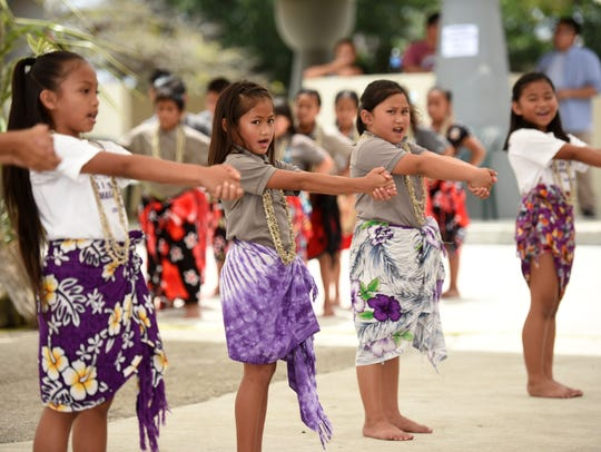 Machananao Elementary School students perform for those