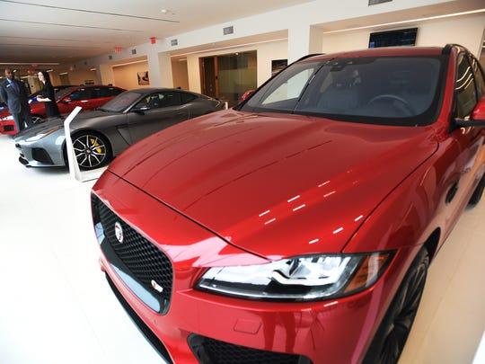 Showroom at Jaguar Land Rover North America Headquarters in Mahwah on/03/27/18.