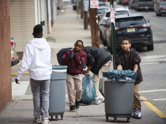 Students of School 10 in Paterson including 6th grader