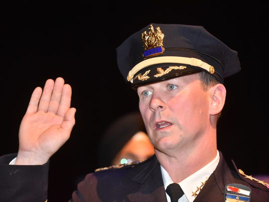 Troy Oswald was sworn in as the new Paterson police