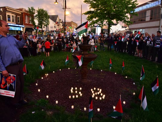 Vigil for 58 killed in Gaza
