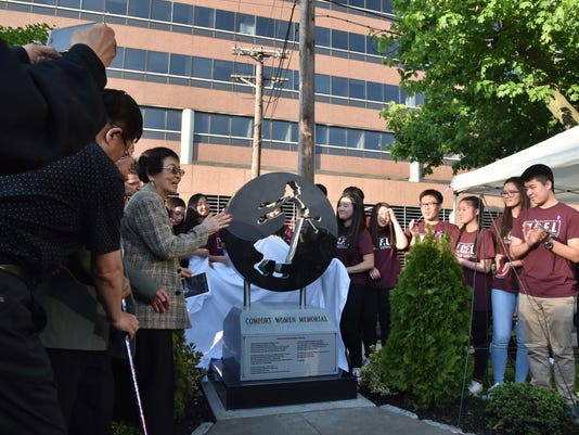 Comfort Women Memorial unveiling ceremony