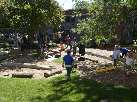 The new Natural Playground and Outdoor Classroom next