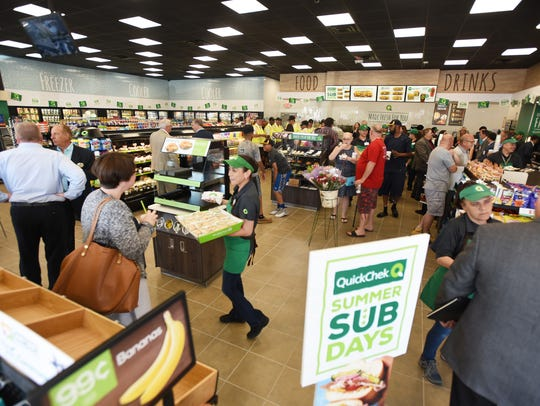 Photo of guests are seen at Hackensack's newest QuickChek