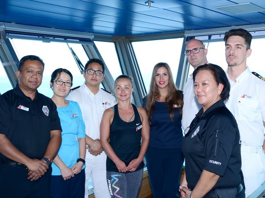 Crew members of Carnival Glory who played a role in