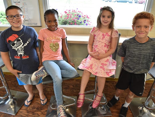 Our ice cream experts:  Justin Montero, 8, of Towaco;  Ariana Muhammad, 7, Orange; Donatella Senatore, 6, Hasbrouk Heights;  Cameron Weidhorn, 8, Fair Lawn