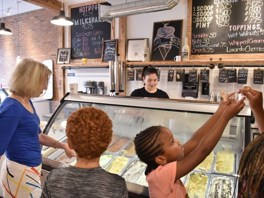 Hmmm, which ice cream should we get at Ice Cream by Mike in Ridgewood?
