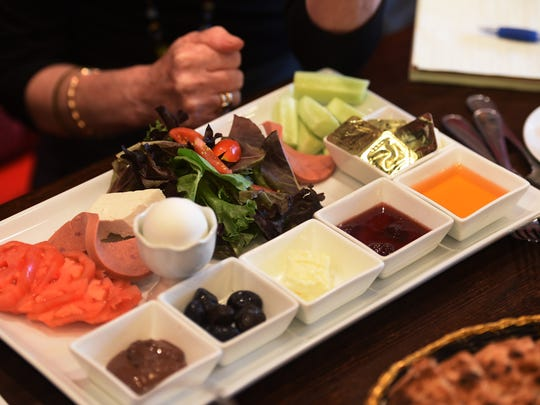 A Turkish Breakfast is seen on the table at Toros in