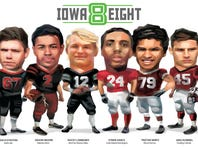 Meet the Iowa Eight: State's football stars, those who just missed