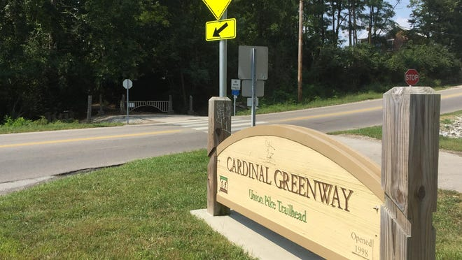The Cardinal Greenway trailhead on Union Pike.