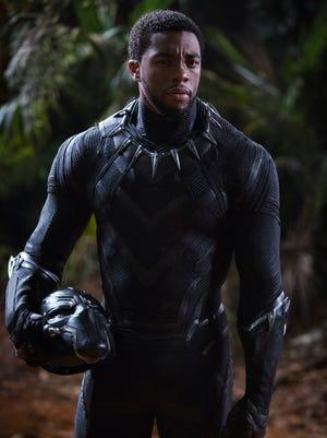 Chadwick Boseman stars as Wakandan king T'Challa and the title superhero of 'Black Panther.'
