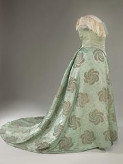 The gown that Edith Roosevelt wore to the 1905 presidential inauguration.
