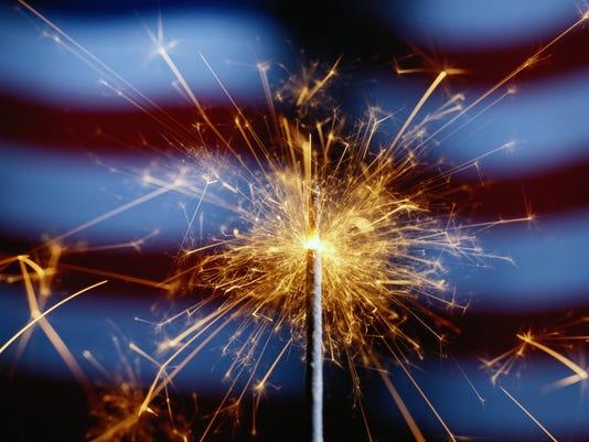 Fireworks July sparkler