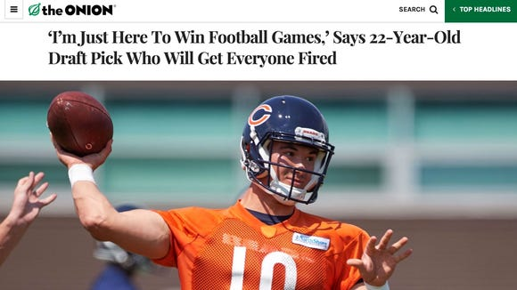 'The Onion' trolls the Chicago Bears with hilarious (and true) Mitch Trubisky article