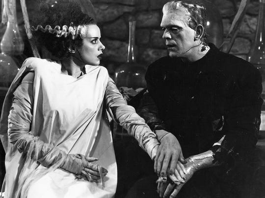 'The Bride of Frankenstein,' starring Elsa Lanchester