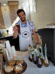 Zac Parsons co-owns Honey + Dew with fiancee Jessica Farmer. The duo have chosen to use coffee from local roasters for their espresso, drip and cold brewed coffee drinks.