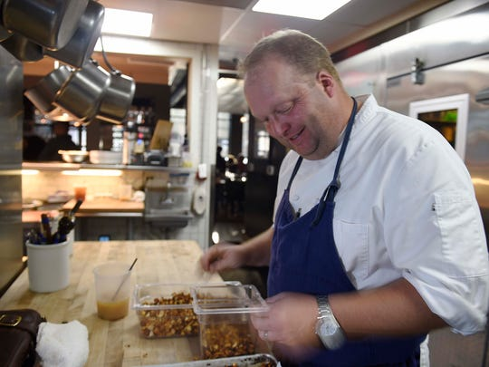 Chef Andrew Little in the kitchen at Josephine.
